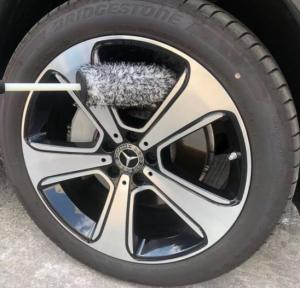 Long Handle NO METAL Microfiber Wheel Cleaning Brush with plush piles