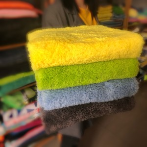 Microfiber Edgeless Plush Towel Car Detailing Cleanint Cloth Set -c