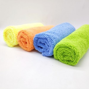 Customized microfiber long/short pile soft towel for car inner cleaning