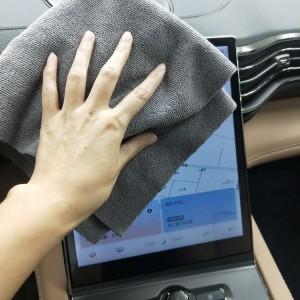 Microfiber warp knitted towel