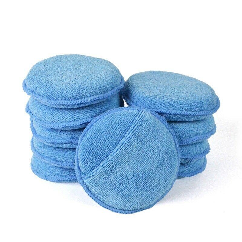 Factory directly supply Microfiber Hair Salon Towel Cleaning Towel Car Dry Clean - Wax Applicator Pad 5″ – Jiexu