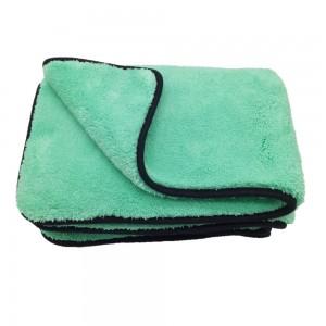 Green Plush Microfiber Towels Car Buffing Detailing Wash Towels