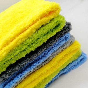 16X16 inches edgeless microfiber coral fleece towel