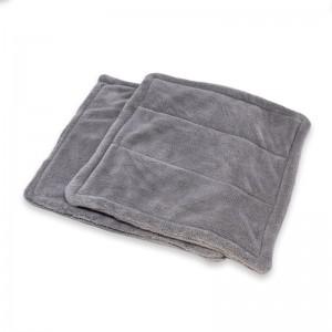 dual layers coral fleece towel car detailing towel edgeless coral fleece dual pile car detailing