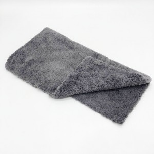Blue Yellow Gray Plush Towel Microfiber Coral Fleece Towel for Car Detailing