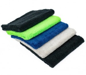 Microfiber dual pile towel car detailing buffing towel