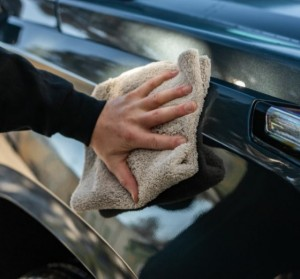 Microfiber dual pile towel