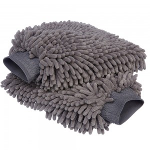 Chenille Wash Mitt Car Washing Gloves Wet Dry Dual Use