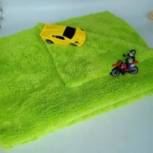 670gsm Edgeless Plush Microfiber coral fleece towel