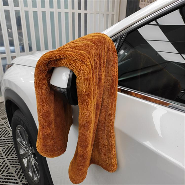 Brown twisted towel 4