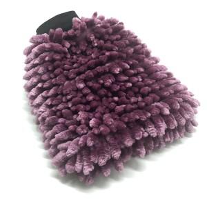New Color Purple Chenille Wash Mitt Car Washing Microfiber Gloves Car Care Kit