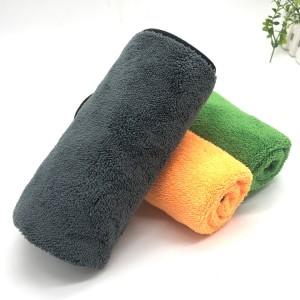 Hot Sale Soft Two Colors Microfiber Coral Fleece Towel