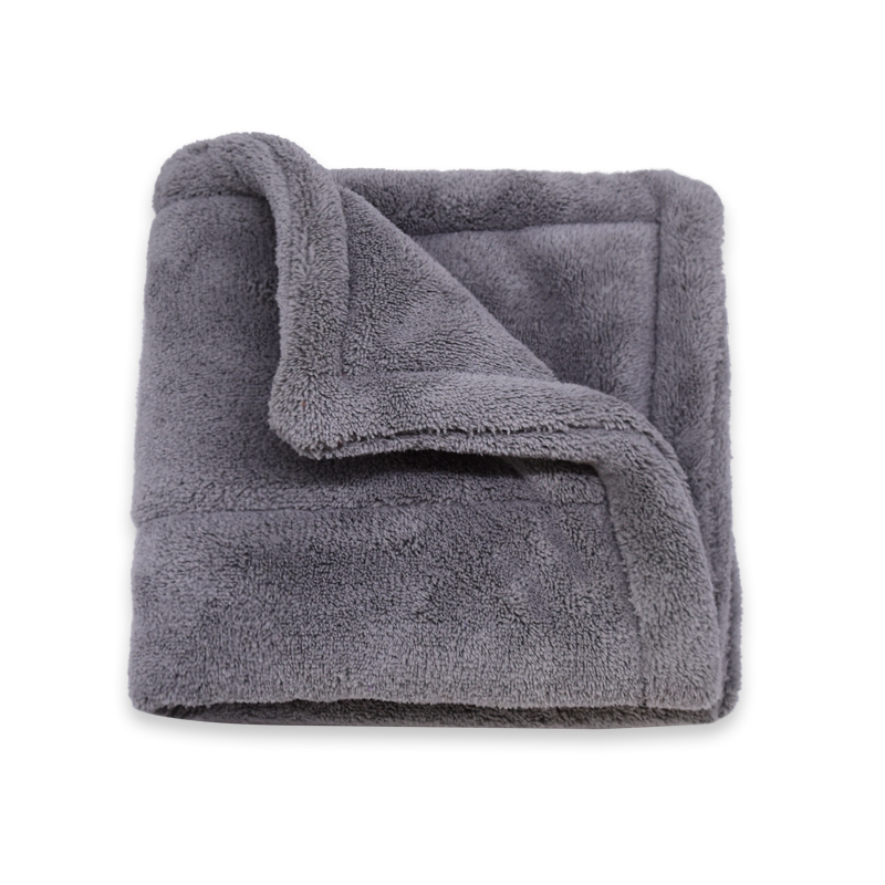 Double Layers Coral Fleece Towel Car Polishing Detailing Cloth -B Featured Image