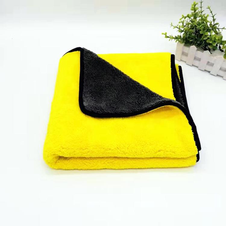 Hot New Products Car Wash Towels Target - 600gsm 40*40cm Coral Fleece Towel Double Colors Microfiber Towel – Jiexu