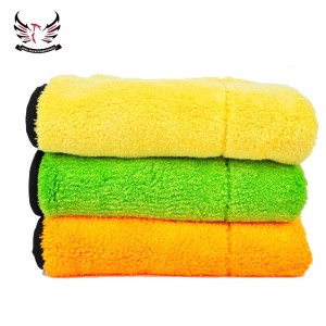800gsm double layers plush microfiber towel