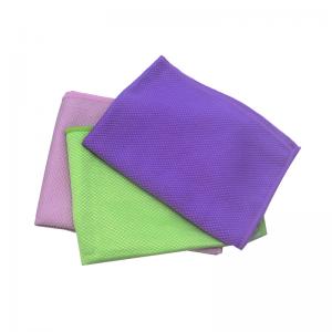 Microfiber Car Window Cleaning Towel Microfiber Diamond Glass Dusting Cloth