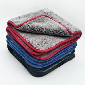 Dual layer microfiber coral fleece drying towel