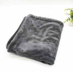 Microfiber super plush twisted drying towel custom logo size – c