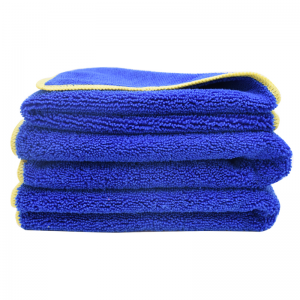 Stitching Edge Microfiber Long Short Piles Towel Car Polishing Cloth-B