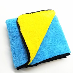 Microfiber Long Piles Coral Fleece Towel Polyester Plush Car Polishing Towel