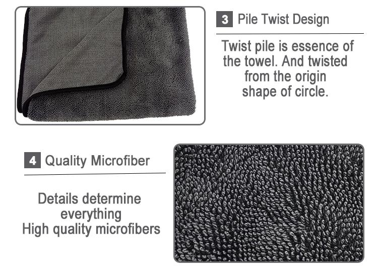Single twist drying towel 2