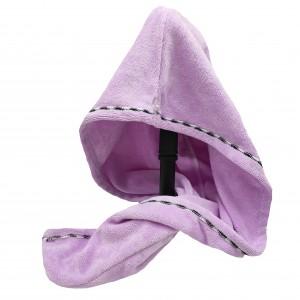 Weft Brushed Microfiber Hair Towel Super Drying Hair Turban Wrap