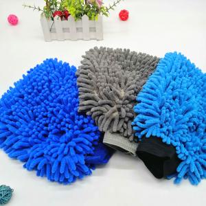 Microfiber Chenille mitt premium blend super soft plush car wash mitt  -C