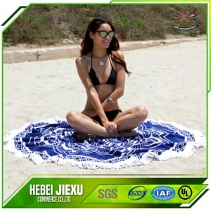 100% Polyester Round beach towel