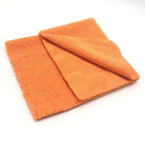 Edgeless Microfiber Long Short Piles Towel Car Detailing Cloth