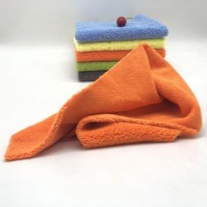 New Orange Color Long Short Piles Towel Five Colors Microfiber Car Cleaning Cloth