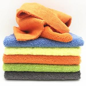 Five Colors Microfiber Car Cleaning Cloth Microfiber Long Short Piles Towel