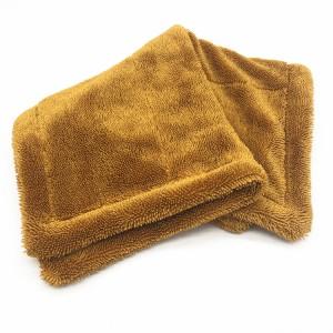 Microfiber twisted drying towel super plush microfibere car detailing towel