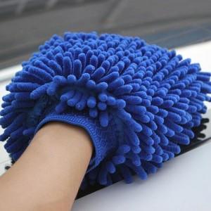 Microfiber chenille mitt master car wash mitt glove Chenille microfiber wash mitt -c